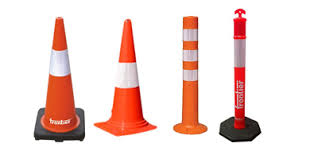 plastic traffic cones for road traffic control and safety